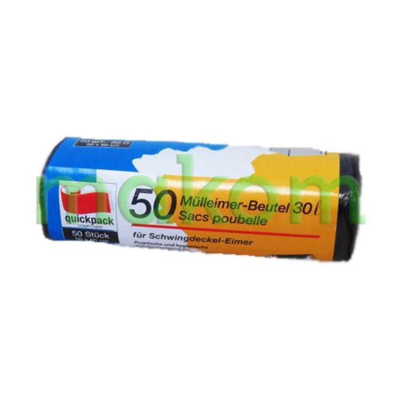 Vreča HD-PE 30L siva 50/1