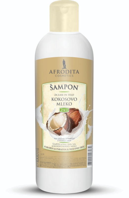 Šampon 1L za lase in telo Kokos