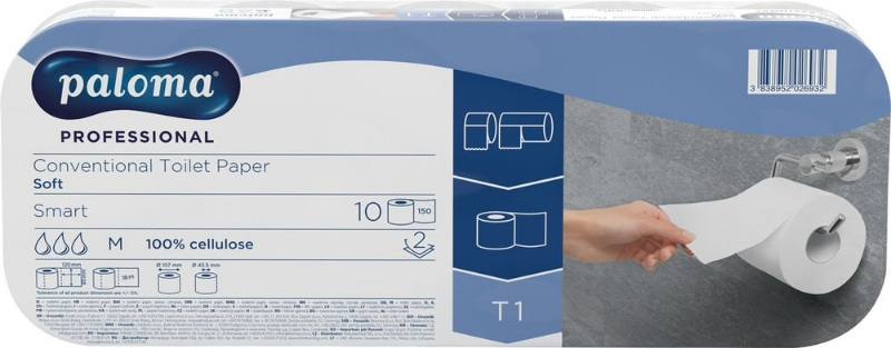WC papir beli 2-pl. 8x10/1 P.