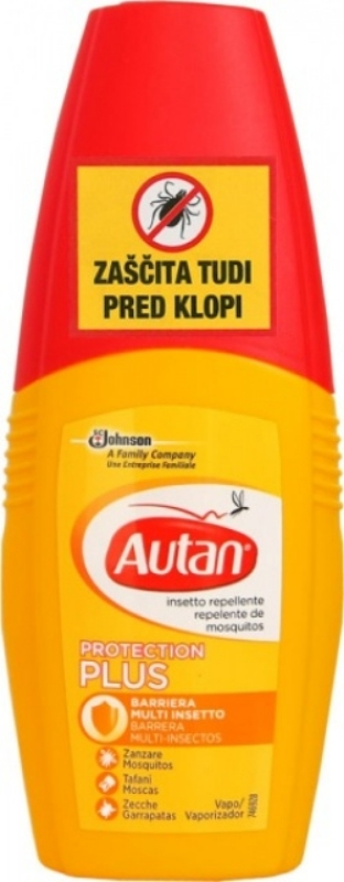 Autan Protection Plus 100ml proti klopom in komarjem
