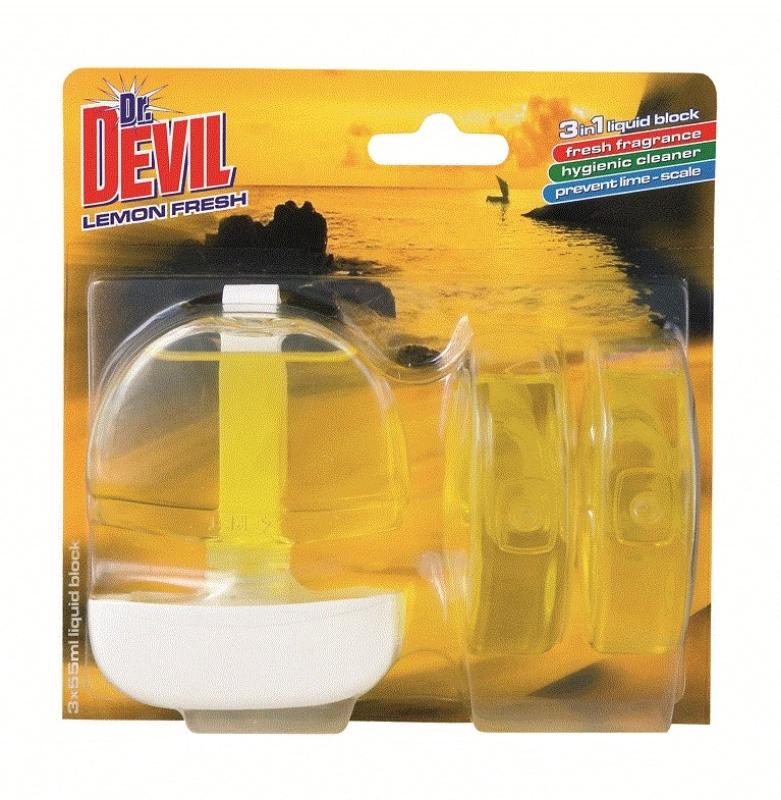 Obesek WC tekoči Dr.Devil komplet 55ml 3/1