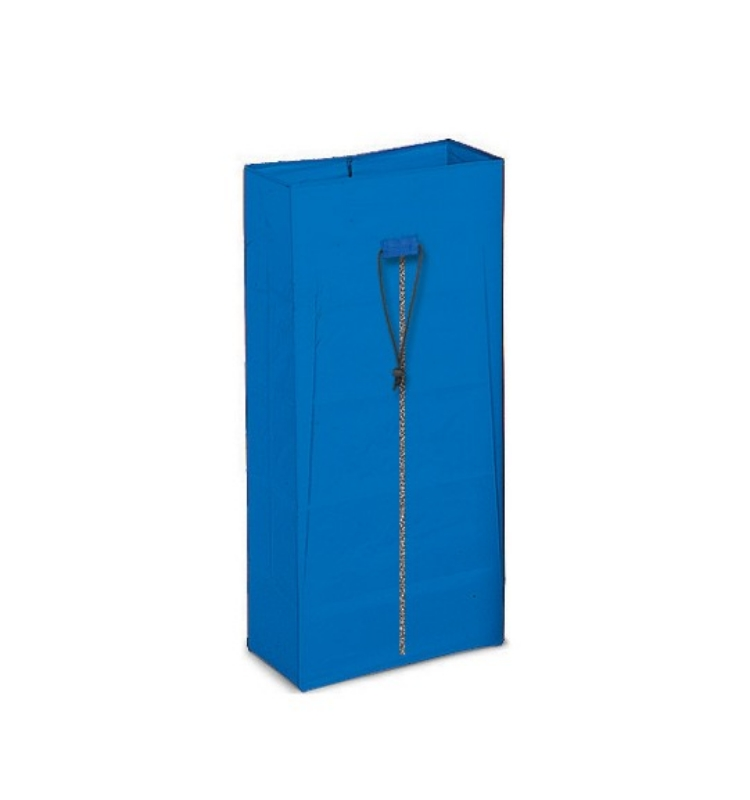 Vreča platnena 120L modra z zadrgo