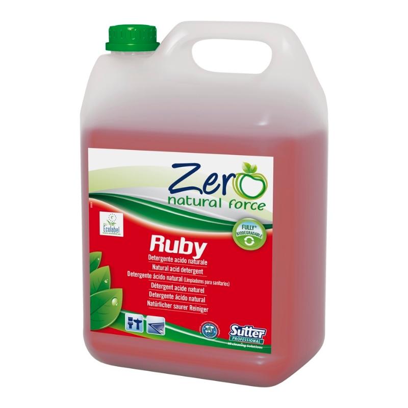 Čistilo za sanitarije ZERO Ruby ECOLABEL 5L, Sutter