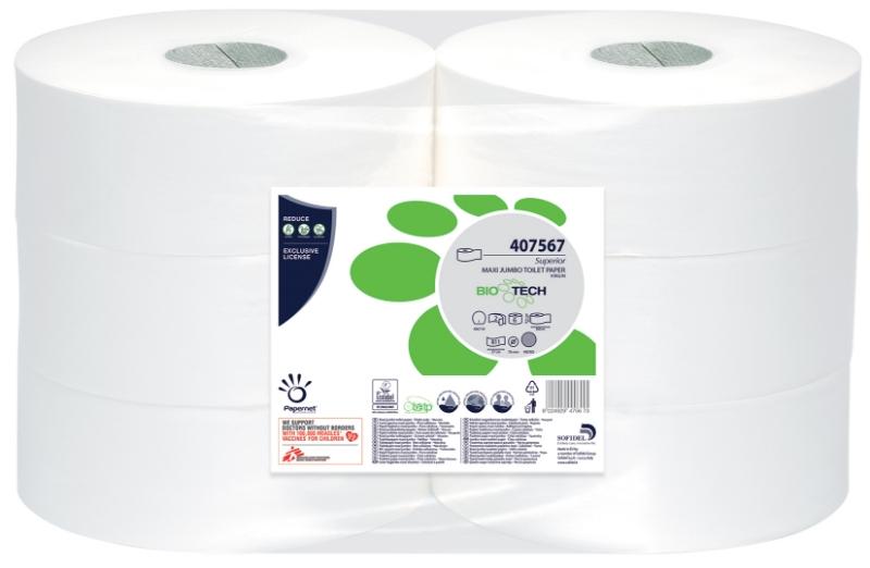 Toaletni papir Maxi Jumbo, 2-slojni, 6/1, Ecolabel, Papernet