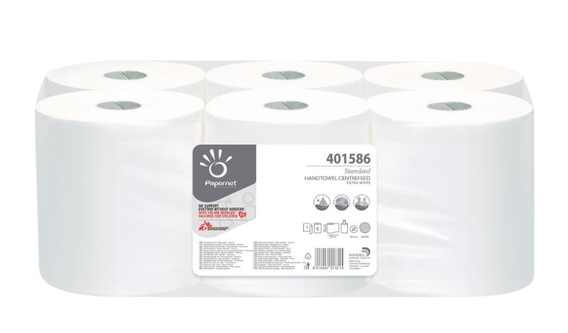 Brisače 2-slojne, 450lističev, 6/1, Central Ecolabel, Papernet
