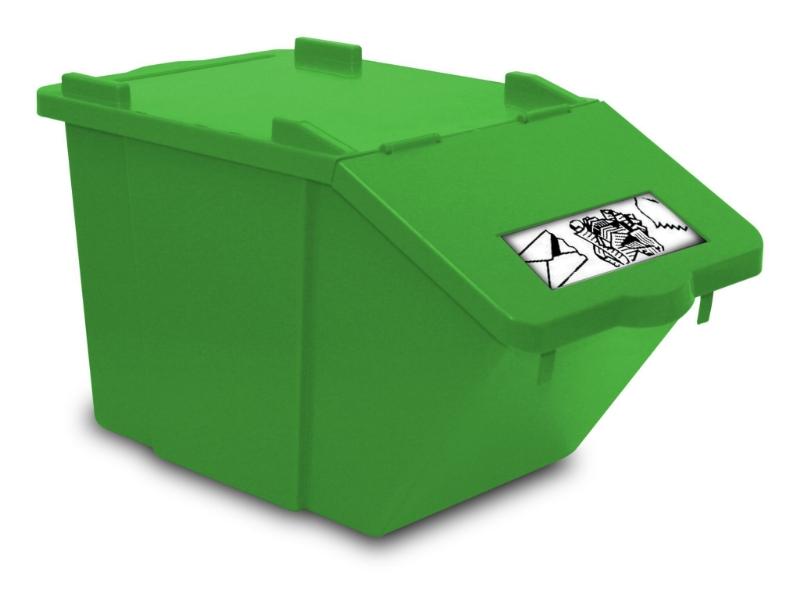 Koš 45L Split zelen, TTS