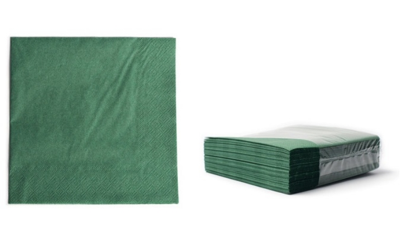 Serviete 33x33 zelene 2-sl. 48x50/1