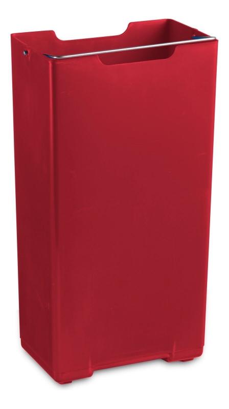 Plastična posoda Vario rdeča 10L za koš Derby, TTS