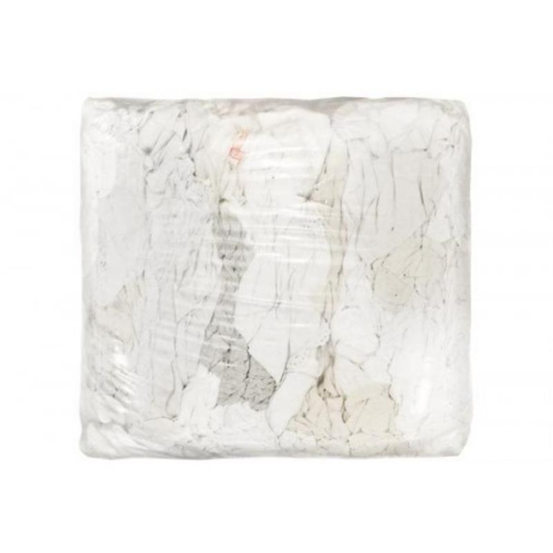Krpa čistilna bombažna  bela 10kg