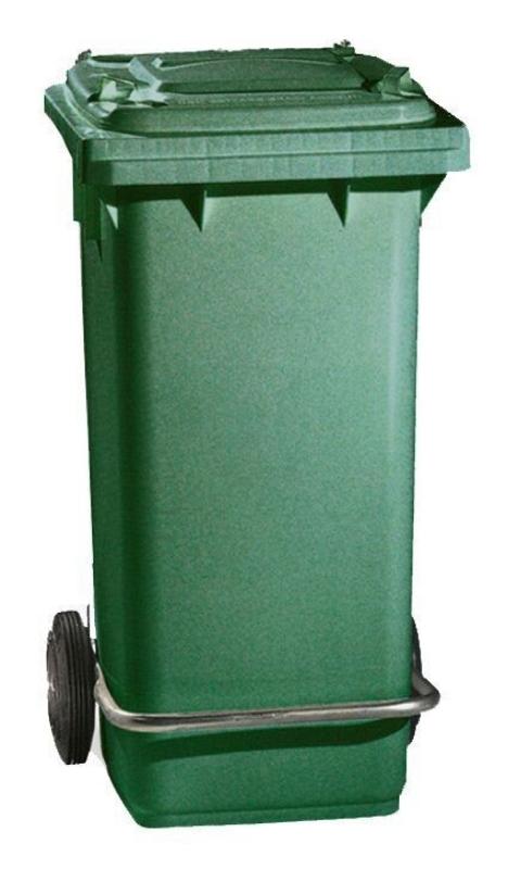 Zelen smetnjak s pedalko 120L, TTS