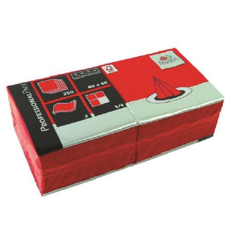 Serviete 40x40 2-sl. 6x250/1 Fasana jalapeno red