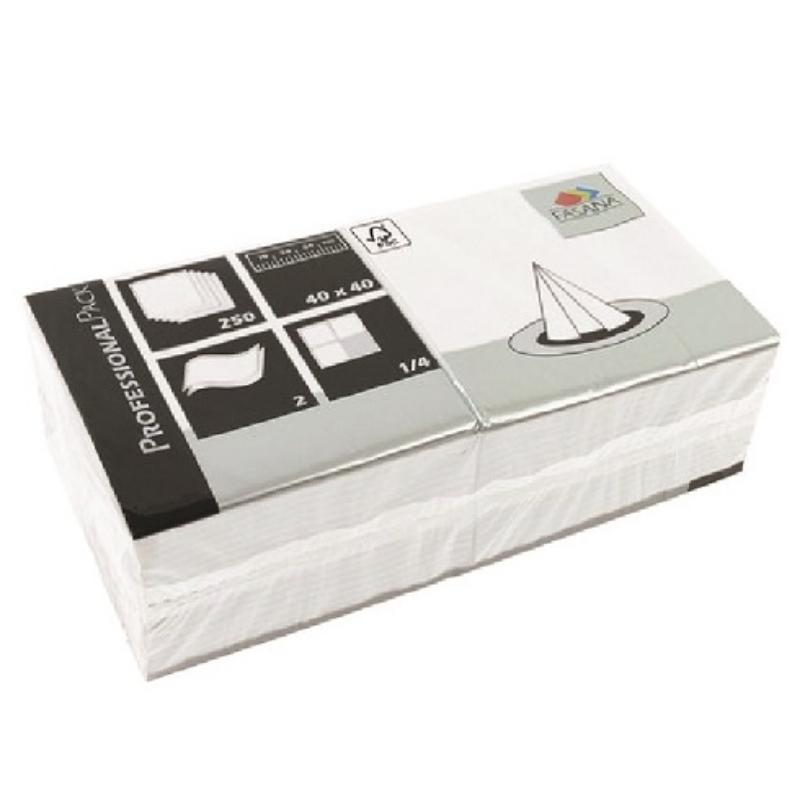Serviete 40x40 2-sl. 6x250/1 Fasana pearl white