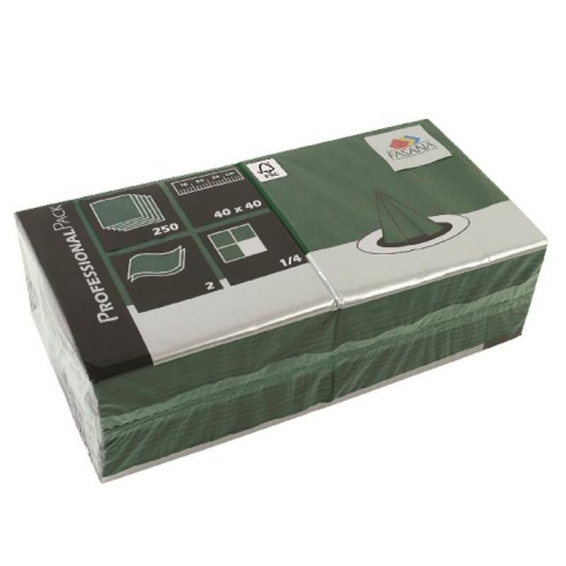 Serviete 40x40 2-sl. 6x250/1 Fasana emerald green