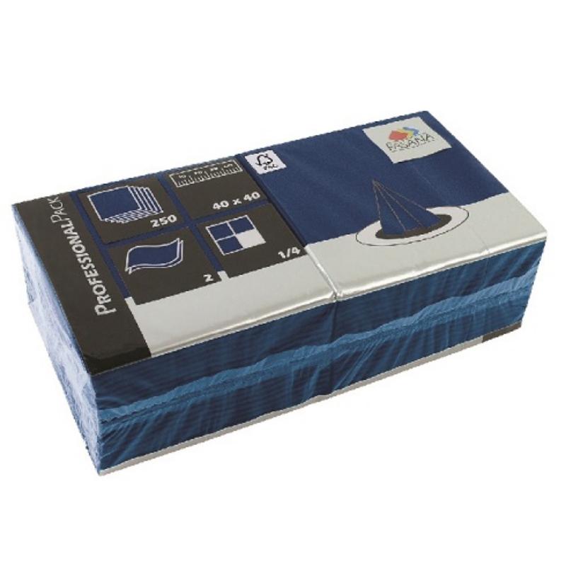 Serviete 40x40 2-sl. 6x250/1 Fasana royal blue