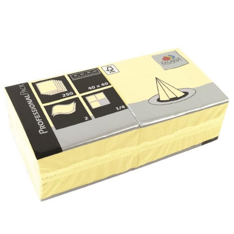 Serviete 40x40 2-sl. 6x250/1 Fasana buttercream