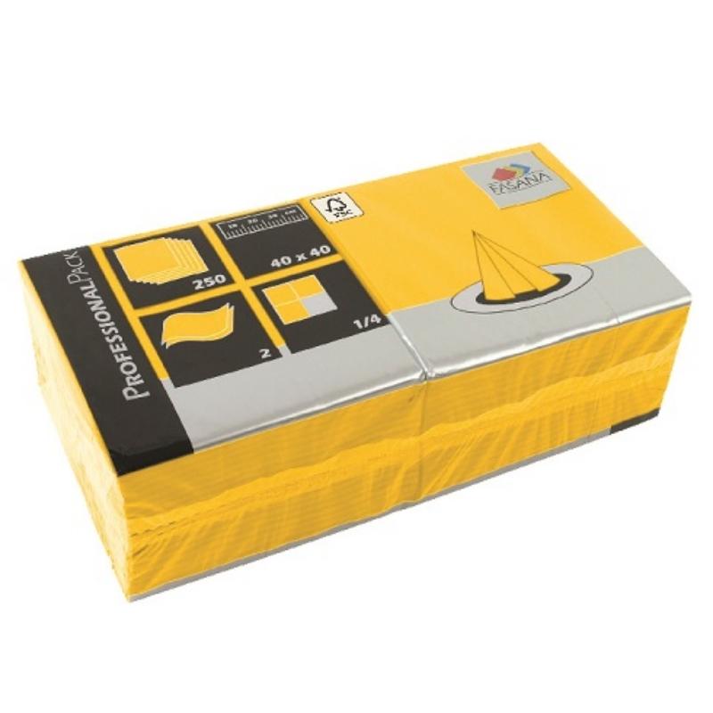 Serviete 40x40 2-sl. 6x250/1 Fasana sun yellow