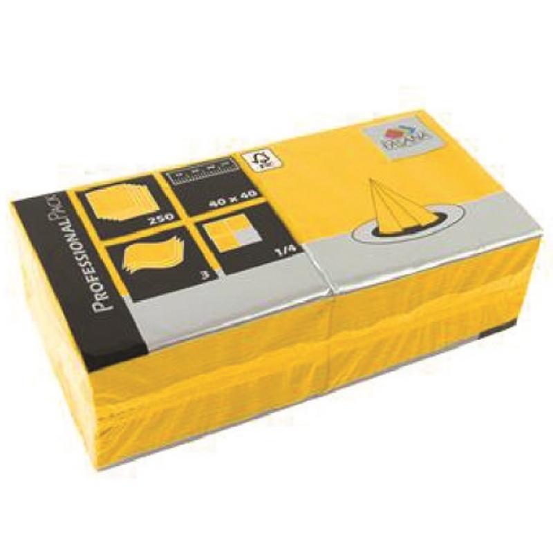 Serviete 40x40 3-sl. 4x250/1 Fasana sun yellow