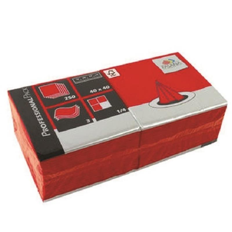 Serviete 40x40 3-sl. 4x250/1 Fasana jalapeno red