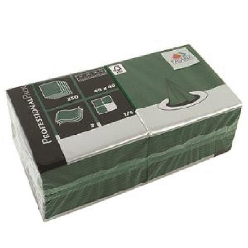 Serviete 40x40 3-sl. 4x250/1 Fasana jemerald green
