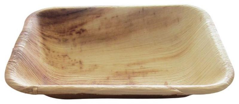 Krožnik iz palmovih listov M, kvadraten