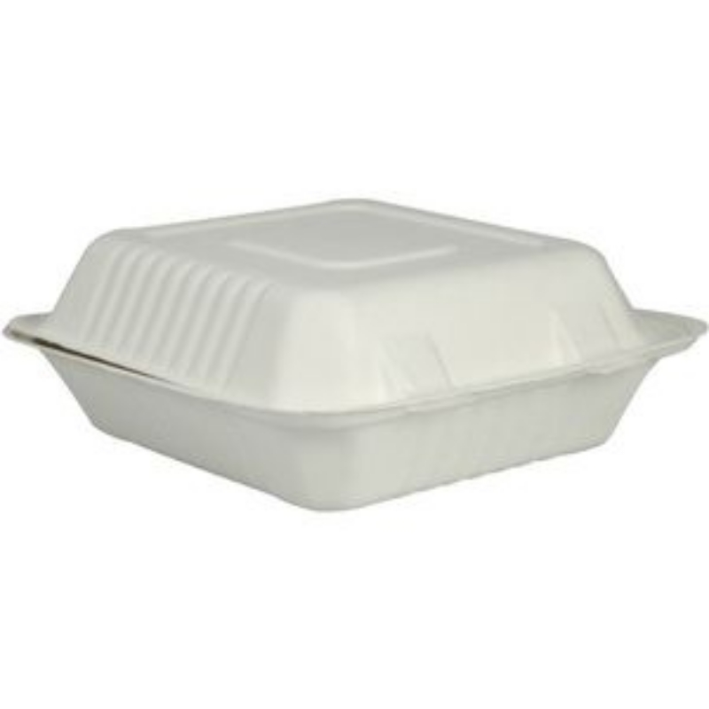 Embalaža za obrok iz sladkornega trsa, kvadratna