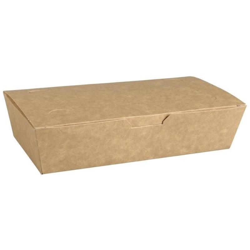 Embalaža za prenos hrane s pokrovom iz papirja L