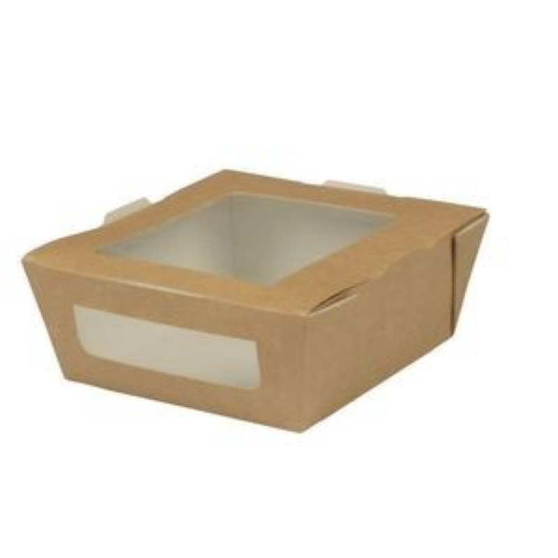 Embalaža za prenos hrane z okencem iz papirja S
