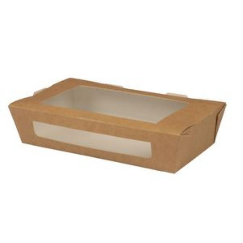 Embalaža za prenos hrane z okencem iz papirja M