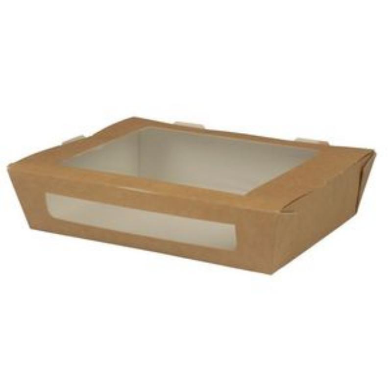 Embalaža za prenos hrane z okencem iz papirja L