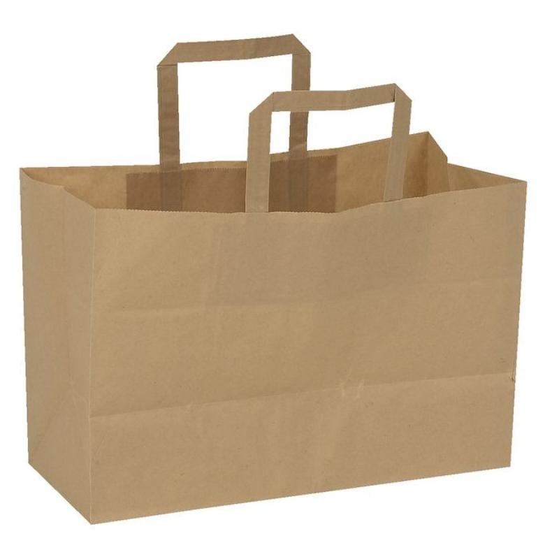 Vrečka iz papirja z držalom, 6 L
