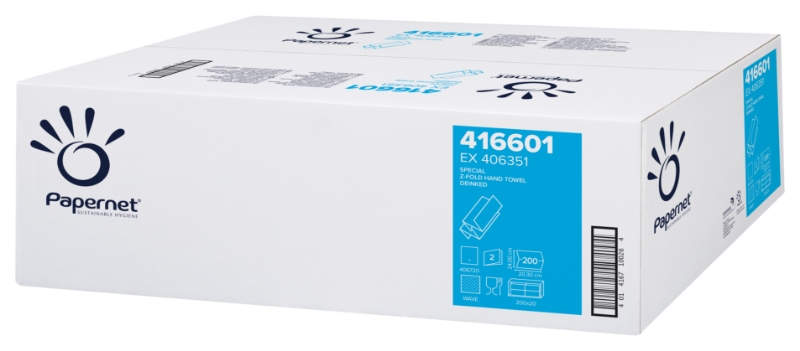 """Zložene brisače """"Z"""" 2-slojne, Deink, 200x20/1, Ecolabel, Papernet"""