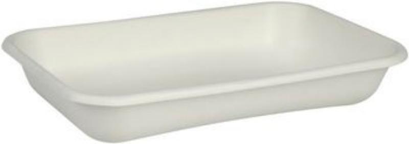 Posoda iz sladkornega trsa BIO, možna kombinacija z biorazgradljivim pokrovom, pravokotna, 710 ml