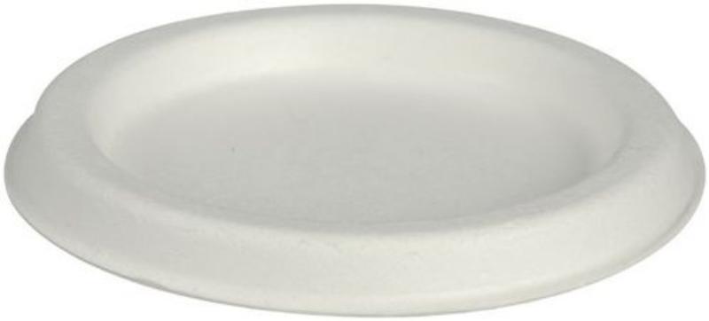 Pokrov za posodico velikosti 120 ml, sladkorni trs, okrogel