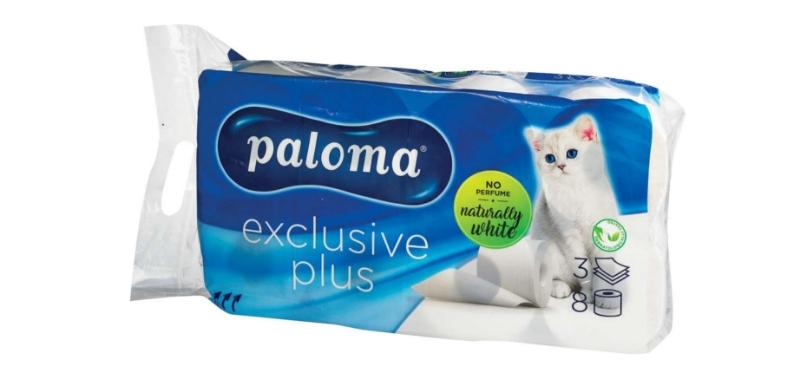 Toaletni papir Exclusive, 3-slojni, 12x8/1, Paloma