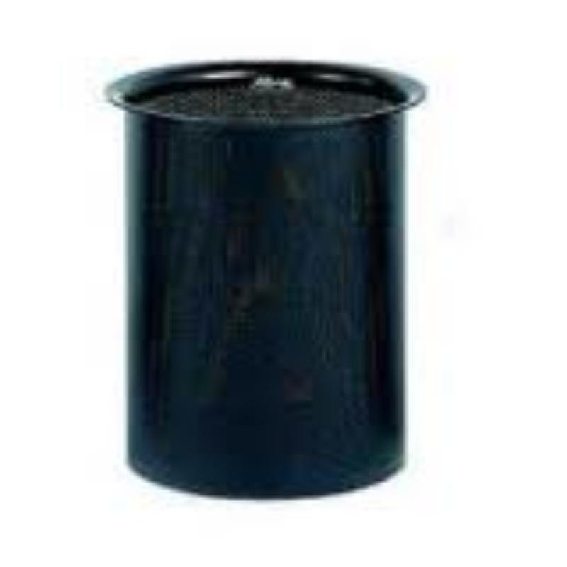 Koš perforiran črn za smeti