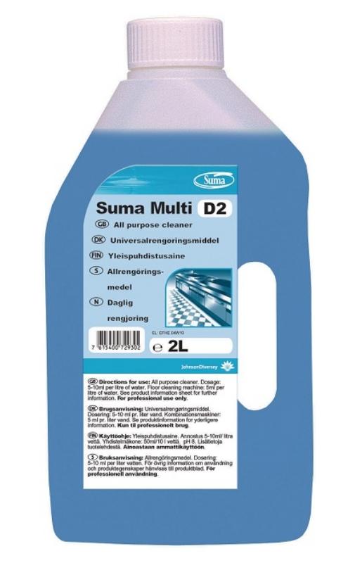 Čistilo za čiščenje površin 6x2L Suma D2 Multi, DIVERSY