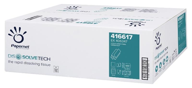 """Zložene brisače """"Z"""" 2-slojne, 200x20/1, Ecolabel, Papernet"""