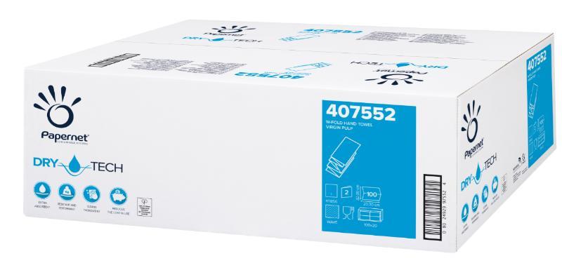 """Zložene brisače """"Z"""" 2-slojne, 100x20/1, Ecolabel, Papernet"""
