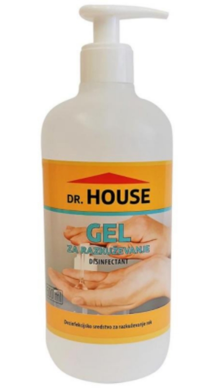 Razkužilo za roke in površine 500ml Dr. House Gel