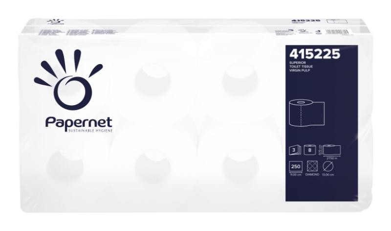 Toaletni papir Superior, 3-slojni, 8x9/1, Ecolabel, Papernet